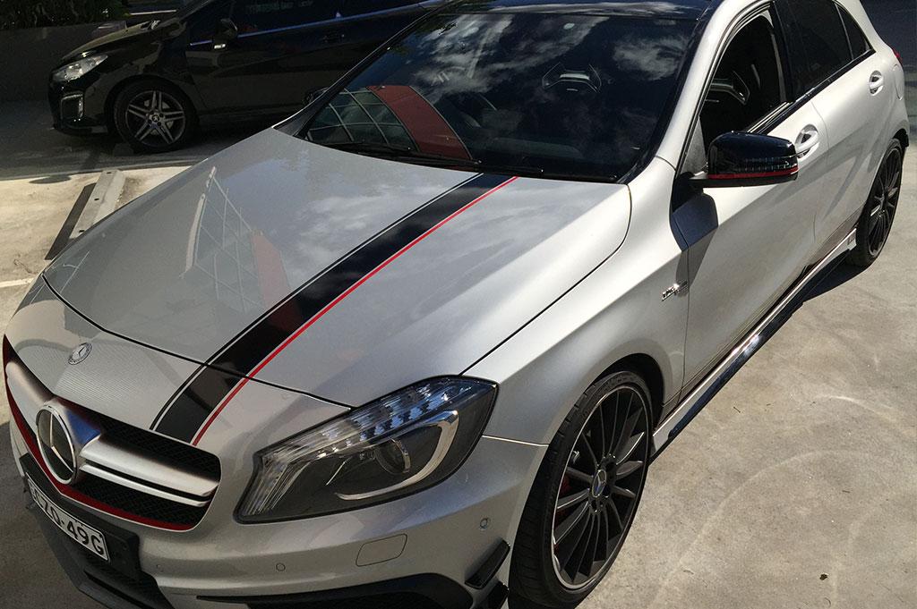 Mercedes A45 Stripe Kit
