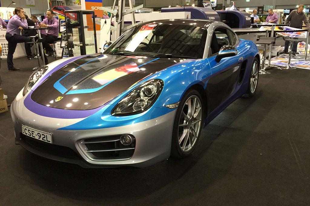 Porsche Cayman Avery Dennison Trade Show Wrap