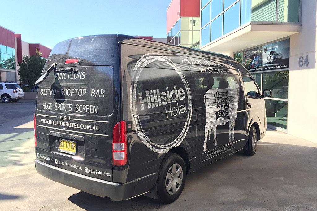 Hillside Hotel Toyota Hiace Wrap